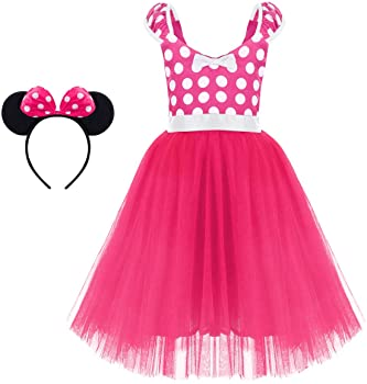 d1ddfb899 Minnie Costume Baby Girl Tutu Dress Mouse Ear Headband Polka Dot First  Birthday Halloween Fancy Dress Up Princess Outfits. Minnie ...