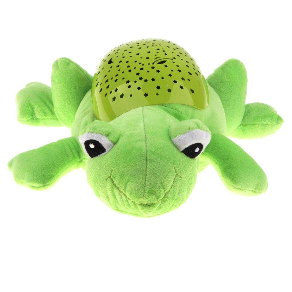 B Blesiya Adorable Stuffed Plush Frog Animal Doll Projector Music & Light Sleeping Toy for Baby Toddlers