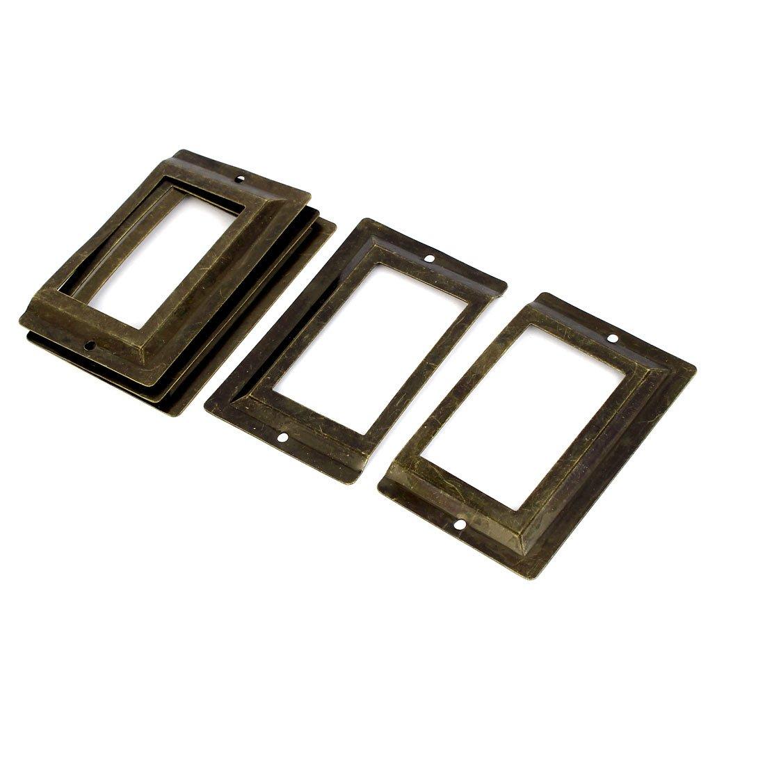 sourcingmap® Post Office Bibliothèque fichier étiquette en métal tiroir porte étiquette Bronze Tone 5pièces a16062000ux0501