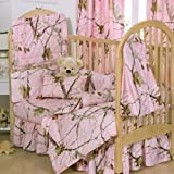 Realtree AP Pink Crib 3-Piece Set by Kimlor Mills, Inc.