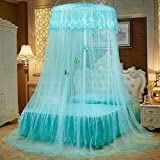 Lustar Court Style Mosquito Net Bed Canopy Children Fly Insect Protection Indoor Decorative Height 270cm Top Diameter 1.2m 1-2m Bed,Green