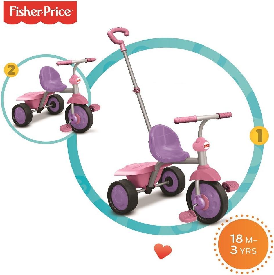 Nueva Rosado Trike Inteligente Glee Tacto de dirección 2-en-1 del niño del Triciclo Bici Coche Infantil