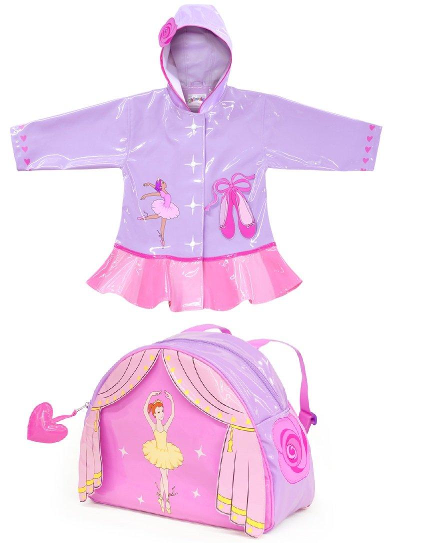 Kidorable Raincoat WITH Backpack- Ballerina (5/6) by Kidorable