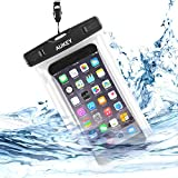 Waterproof Case, Aukey Universal Waterproof Dirtproof Case Bag, Perfect for Outdoor Activities,Provide Waterproof, Dirtproof, Snowproof  Full Protection for iPhone 6,6S,6 Plus, 6S Plus, Samsung Galaxy, Credit Card,Passport etc.