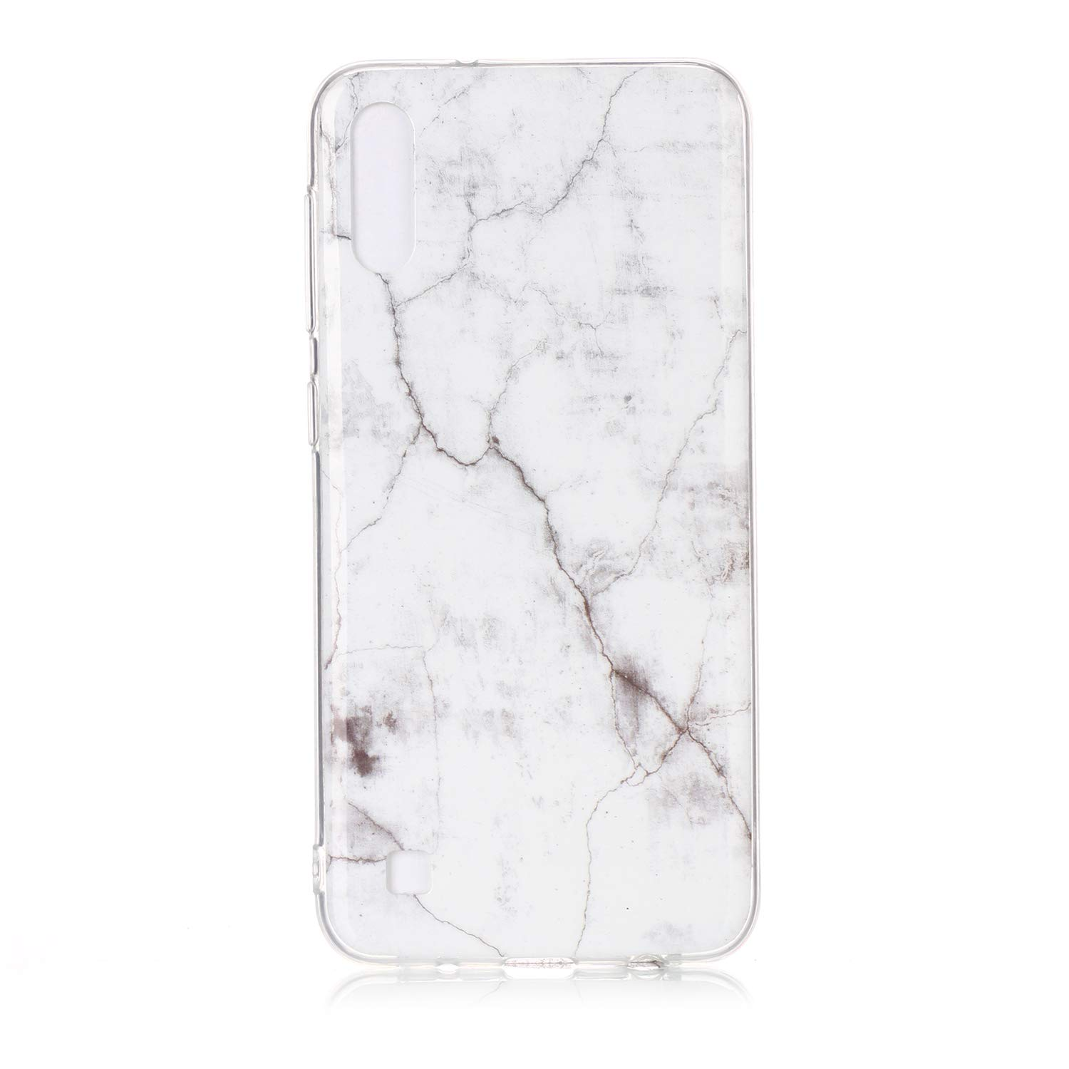 HopMore Compatible with Case Samsung Galaxy A10 2019 Silicone Creative Marble Design with Clear Bumper Shockproof Case Protective Cover Thin Gel Slim Bumper for Girls Woman Men Blue