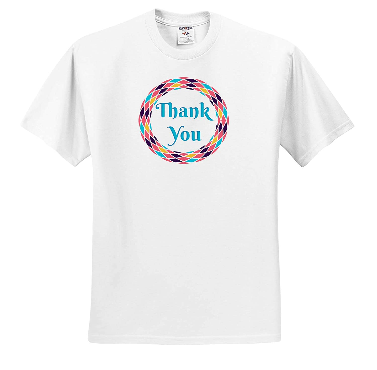 Image of Thank You Adult T-Shirt XL 3dRose Carrie Merchant Image Quote ts/_317451