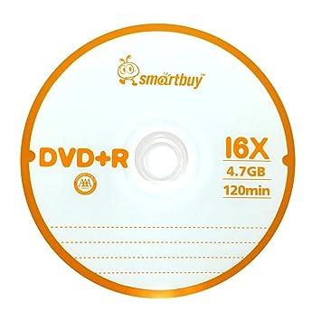 amazon smartbuy 4 7gb 120min 16x dvd r logo non printable blank
