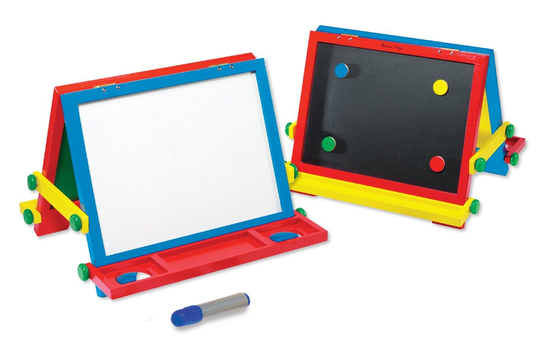 Amazon.com: Melissa U0026 Doug Wooden Magnetic Tabletop Art Easel   Dry Erase  Board And Chalkboard: Melissa U0026 Doug: Toys U0026 Games