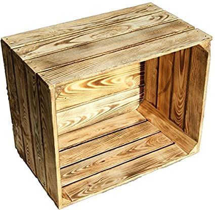 Kistenkolli Altes Land flambierte/flameadas sólido cajas de fruta Como Estante o como clásico Caja