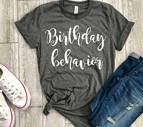 8f8916b71 Amazon.com: birthday shirt women birthday behavior tee bday gift: Handmade