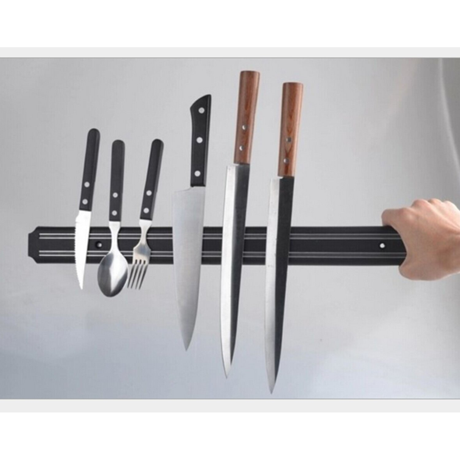 Kangkang@ Wall-mounted Magnetic Self-adhesive 21 inches Length Knifes Holder Stainless Steel Block Magnet Knife Holder Rack Stand For Knifes