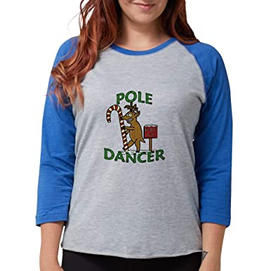 Amazon.com  CafePress Funny Dancer Christmas Reindeer Pun Baseball Tee   Clothing 6d149d370