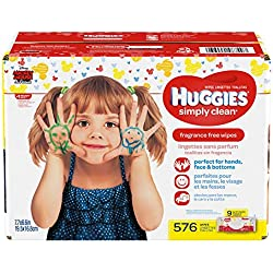 HUGGIES Simply Clean Fragrance-Free Baby Wipes Soft Pack, 576 Count
