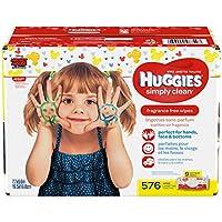 Huggies simplemente limpiar sin fragancia toallitas para bebé suave paquete...