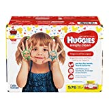 Health & Personal Care : HUGGIES Simply Clean Unscented Baby Wipes Soft Pack, 576 Count