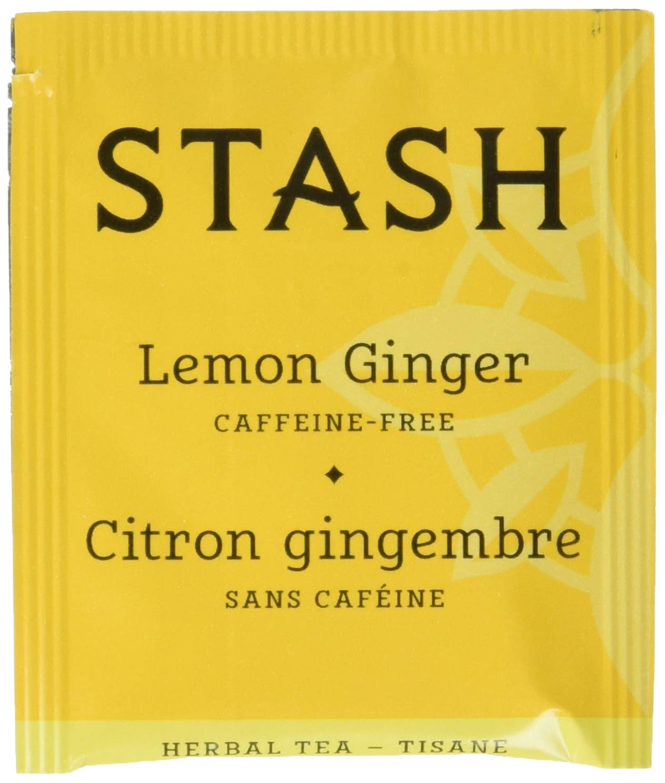 Stash Tea Lemon Ginger Herbal Tea 100 Count Box of Tea Bags, Premium Herbal Tisane, Citrus-y Warming Herbal Tea, Enjoy Hot or Iced by Stash