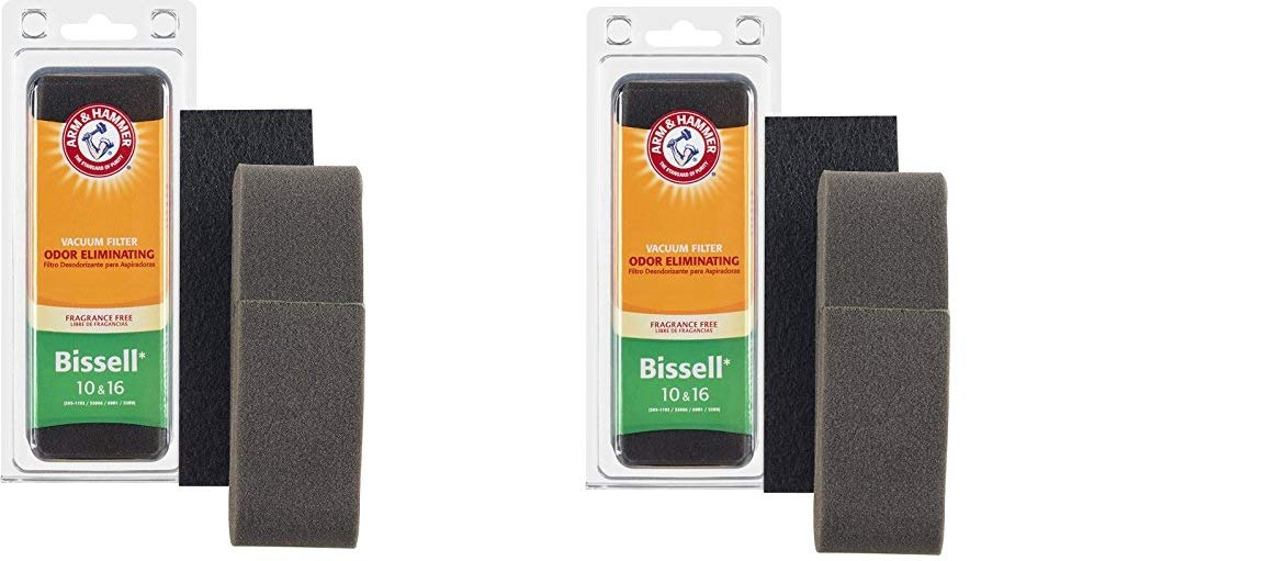 H&A Arm & Hammer Bissell Style 10 & 16 Allergen Foam Filter(Pack of 2)