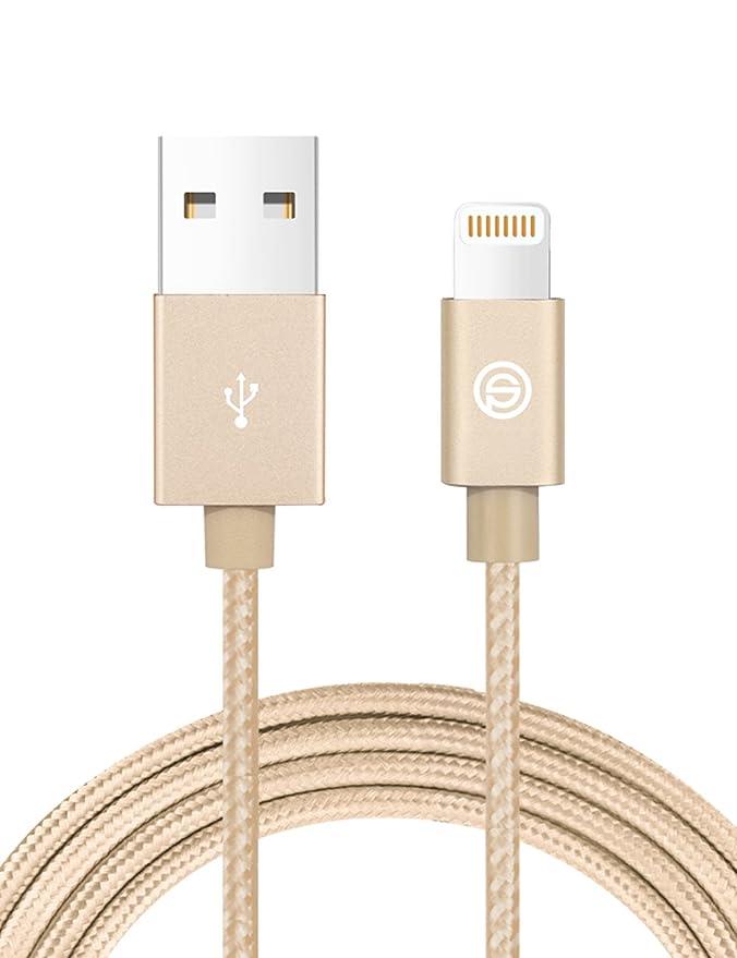 USB Cargador Cable OPSO Lightning Nailon Trenzado 1M [Certificato Apple MFi] para iPhone 7 6s 6 Plus SE 5s, iPad Pro, iPad mini, iPod touch / nano- ...