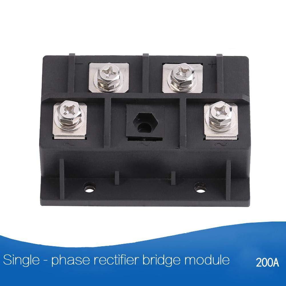 gro/ße /Überstromkapazit/ät Br/ückengleichrichter 1 St/ück 200A 1600V Hochleistungs-Einphasendiodengleichrichter Br/ückenmodul 4 Klemmen