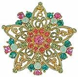 Rucinni Star Brooch with SWAROVSKI Crystals