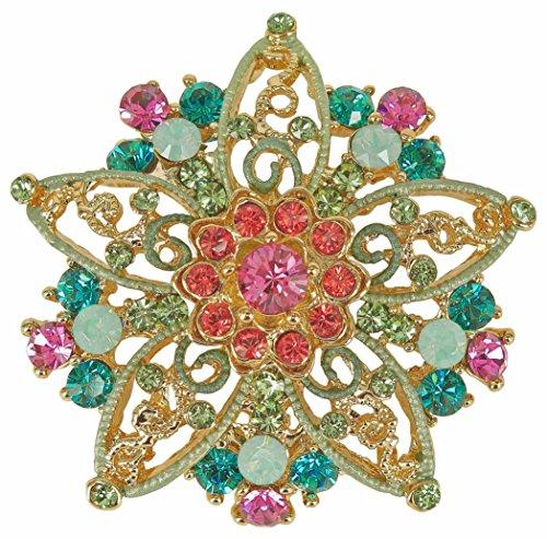 with SWAROVSKI Crystals (Swarovski Crystal Star Brooch)