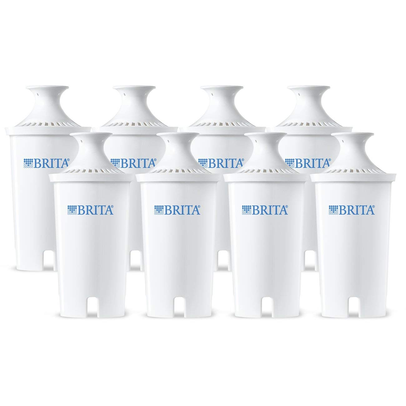 Brita Standard Water Filter, Standard Replacement Filters for Pitchers and Dispensers, BPA Free - 8 Count