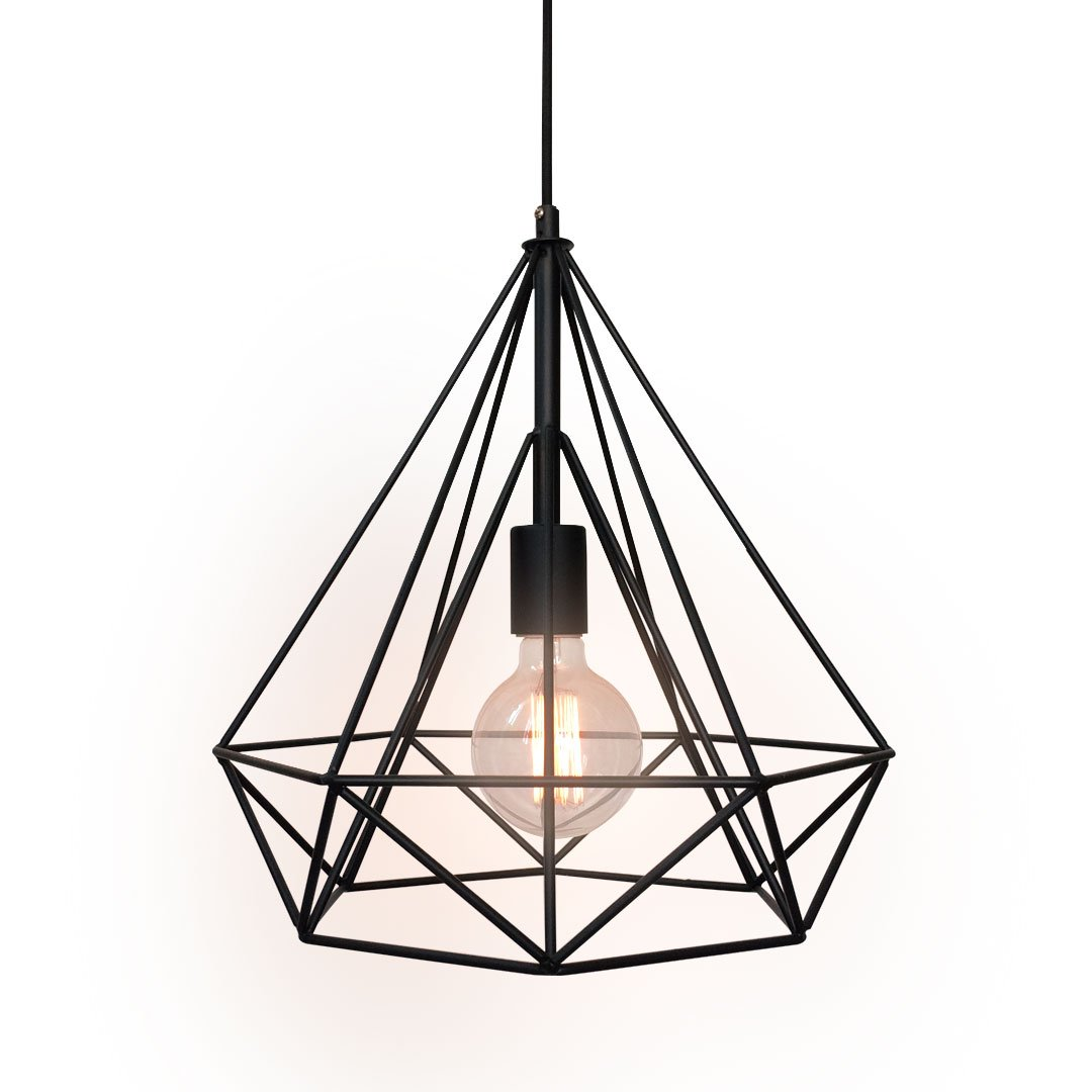 Westmenlights wrought iron diamond shape shade modern hanging westmenlights wrought iron diamond shape shade modern hanging pendant light amazon aloadofball Image collections