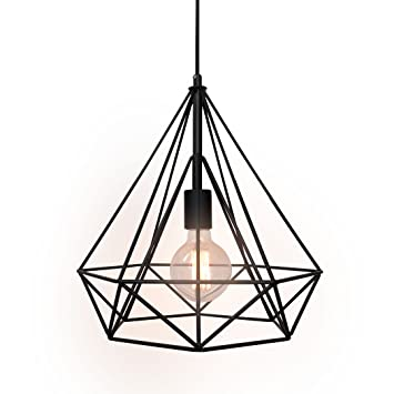 iron pendant dp wrought light modern diamond hanging shade shape westmenlights