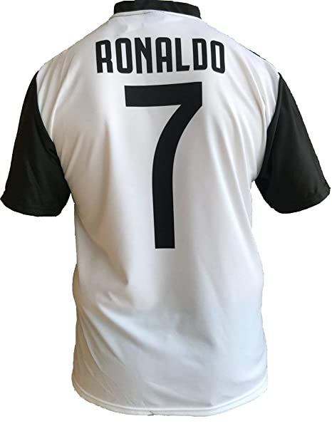 outlet store sale 43b05 5beb1 Soccer Football T-Shirt CRISTIANO RONALDO 7 CR7 Juventus Jersey HOME Season  2018-2019 Official REPLICA with LICENSE - All The Sizes BOY (2 4 6 8 10 12  ...
