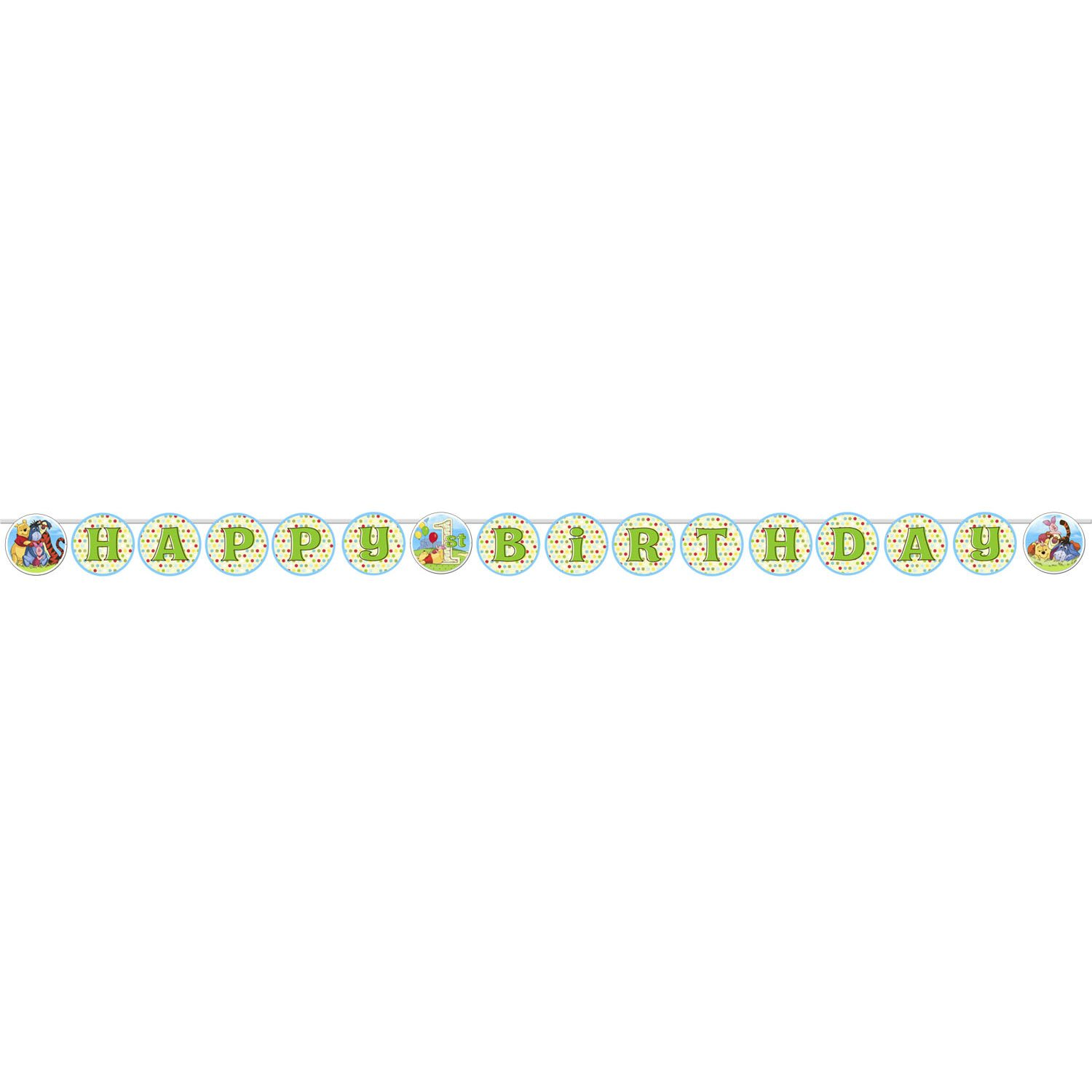 Winnie the Pooh and Pals 1st Birthday Banner 1ct