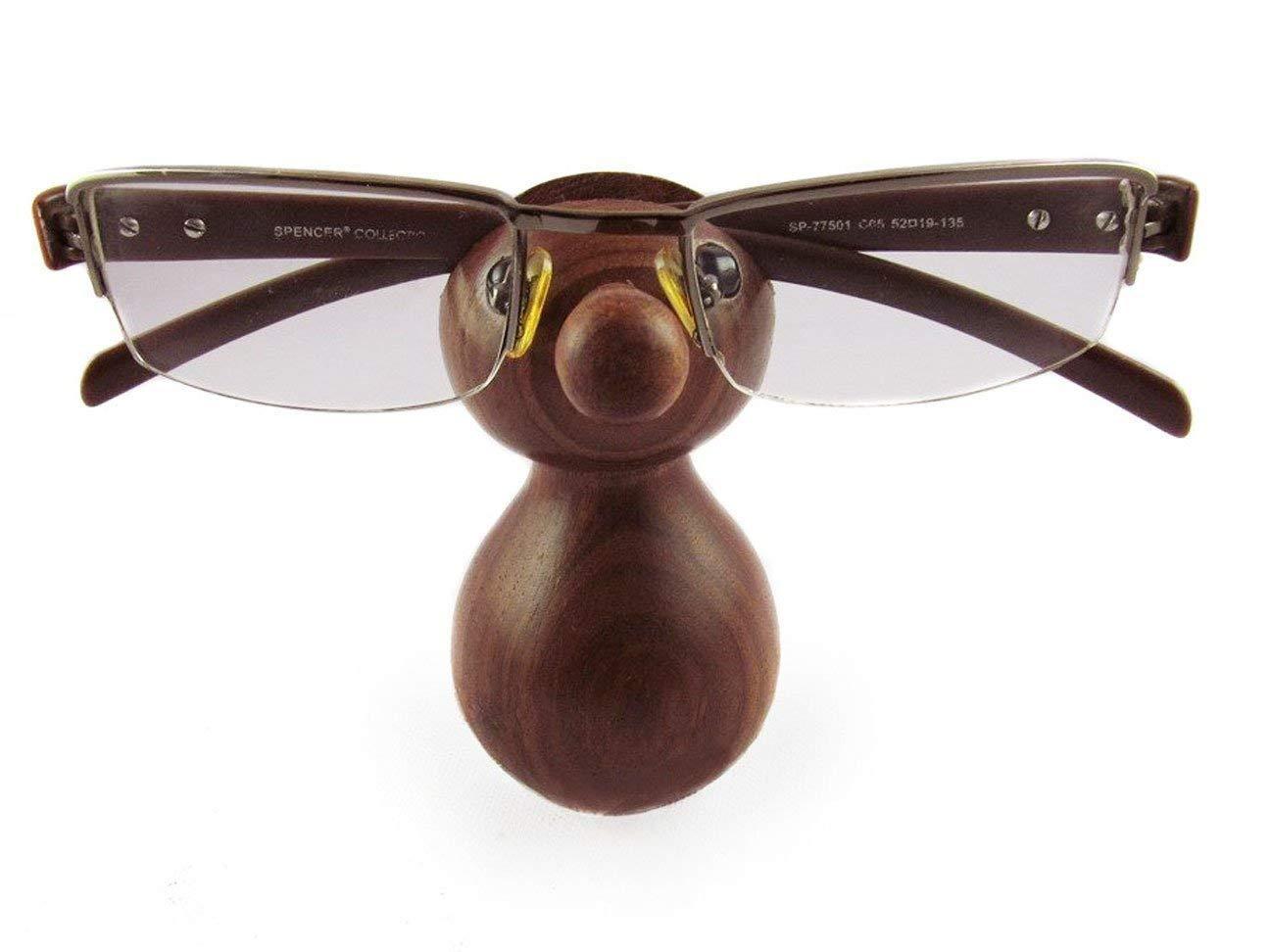 fatto a mano per mascherine e vetri A forma di nud Porta occhiali in legno