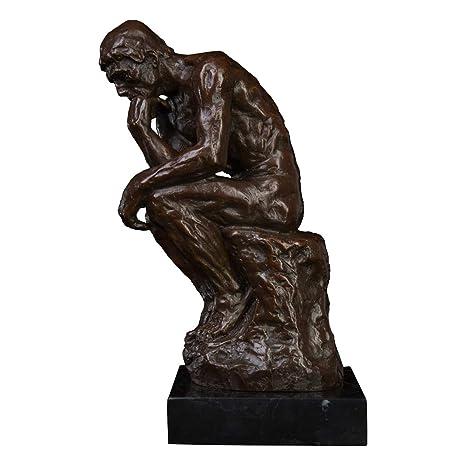 Toperkin TPE-185B The Thinker Sculpture by Rodin Famous Art Deco Bronze Statue