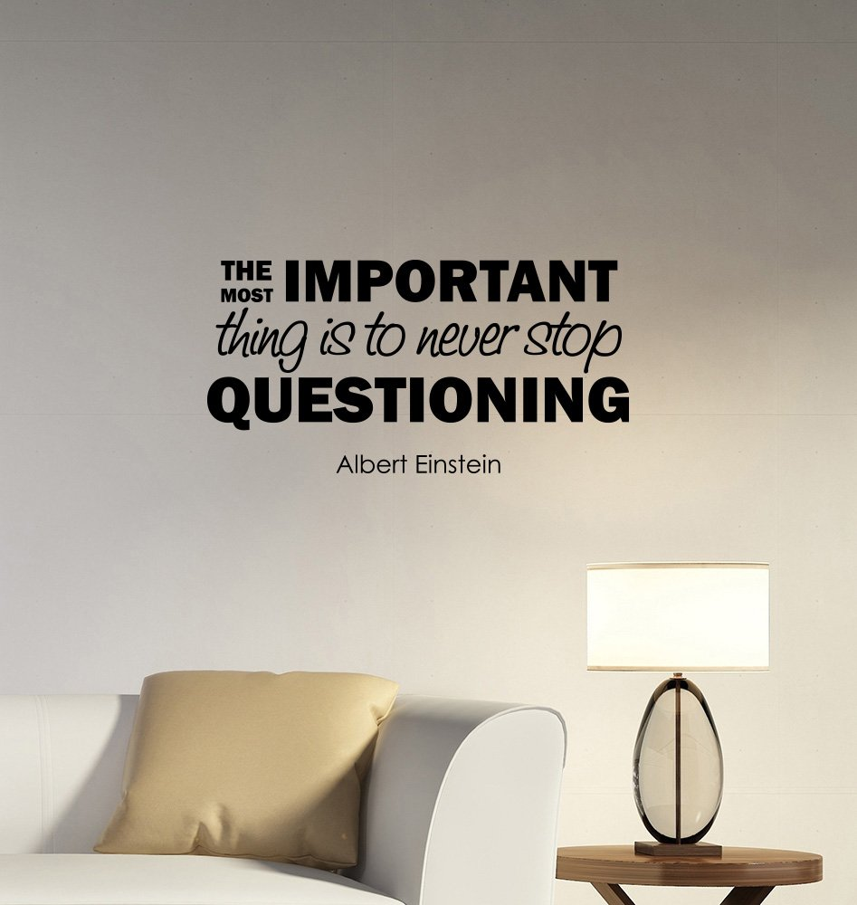 The most important thing albert einstein quote wall decal vinyl lettering science sticker genius physics art inspirational scientist saying decorations for