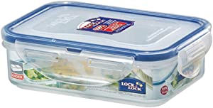 Lock & Lock, No BPA, Water Tight, Food Container, with 2 Removable Dividers, 1.5-cup, 12-oz,