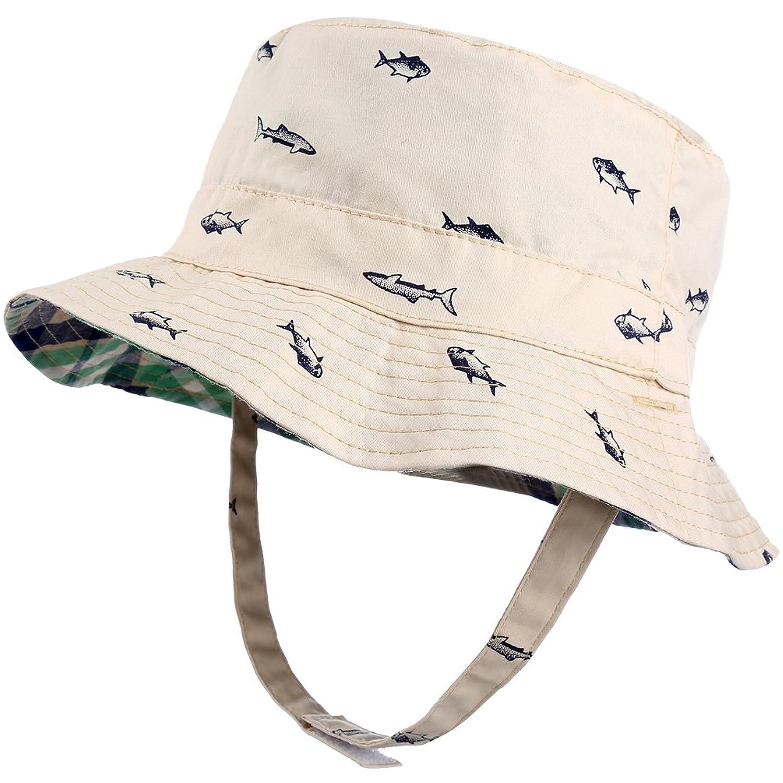 Vbiger al Aire Libre Reversible Sombrero de Pesca Sombrero de sol Correa de  Mentón Ajustable para dcaf6ef8801