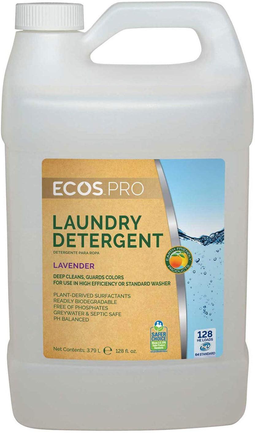 ECOS Detergente líquido para la colada, lavanda, 2 botellas de ...