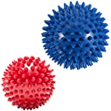 Pack of 2 Spiky Massage Balls - Plantar Fasciitis, Muscle Soreness Massager Ball