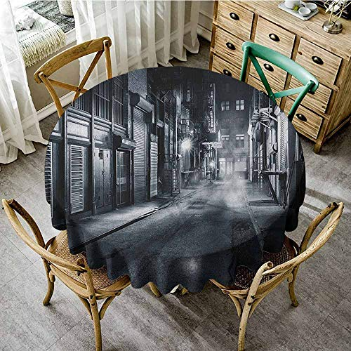 (Rank-T Grid Round Table Cloth 43