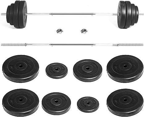 GYMAX juego de pesas de pesas, 132 libras, juego de pesas con ...