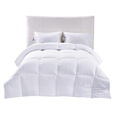 Utopia Bedding Down Alternative Comforter (White, Queen) - All Season Comforter - Plush Siliconized Fiberfill Duvet Insert - Box Stitched
