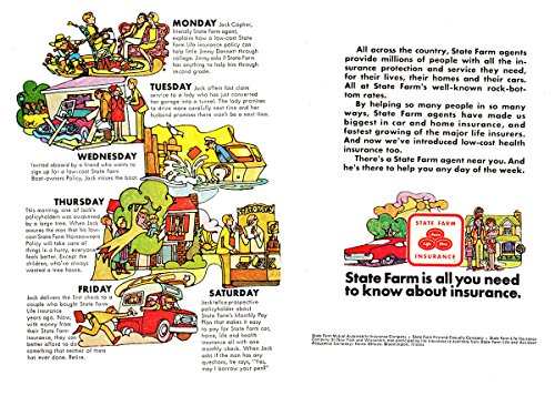 1968 State Farm Insurance  All Across The Country  State Farm Insurance Print Ad