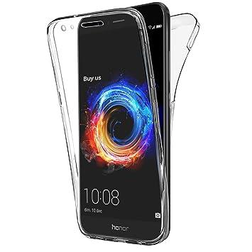 XCYYOO Funda 360 Grados Compatible con Huawei Honor 8A/Y6 Pro 2019 Delantera Trasera Protectora Movil Silicona Carcasa Ultra-Fina Gel Transparente ...