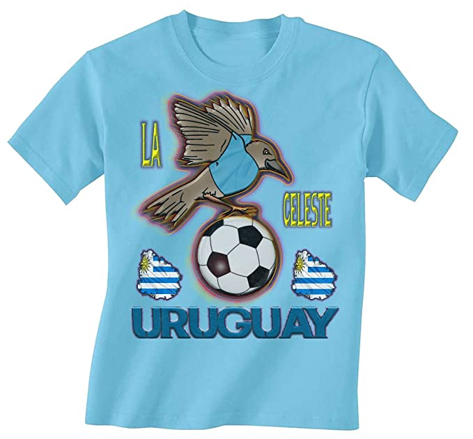 Uruguay Football Mascot Childrens Boys/Girls Kids Niños Camiseta World Cup T-Shirt
