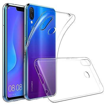 GeeRic Huawei P Smart Plus Funda Crystal Clear Gel de TPU de Silicona Slim Fit Diseño a Prueba de Golpes Suave y Flexible Parachoques Protector de la ...