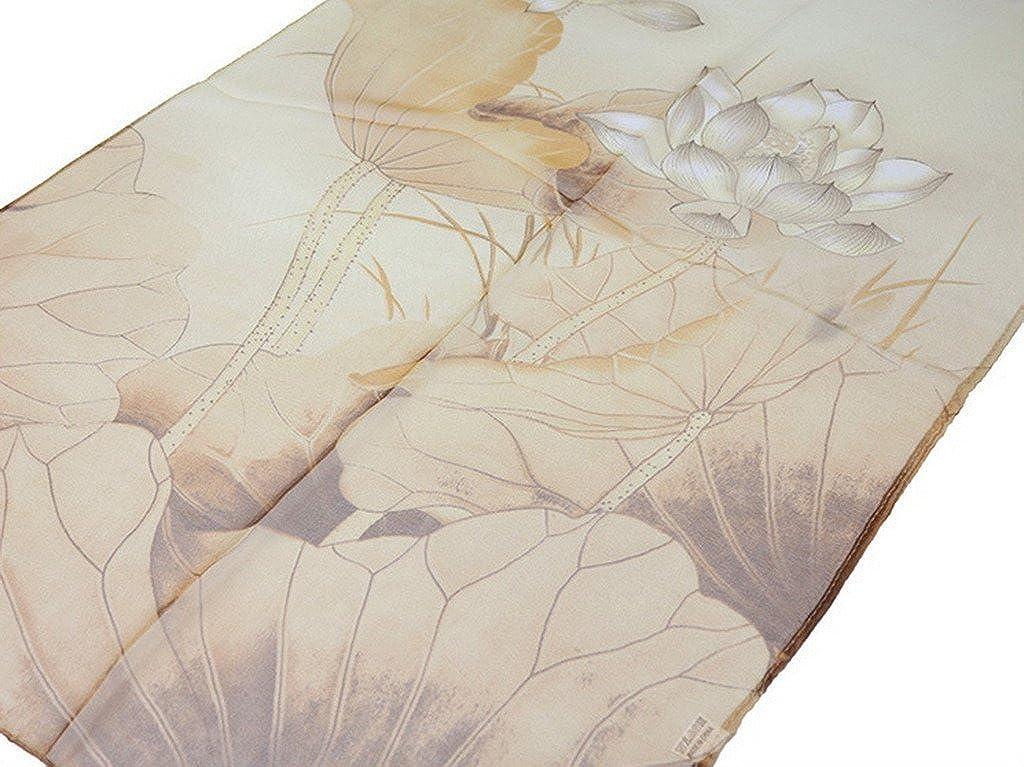 COMVIP Femme Écharpe Foulard Ultra-Mince Souple Georgette Châle Mousseline  Imprimé Lotus Abricot  Amazon.fr  Vêtements et accessoires a6b2b86ffe9