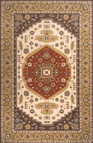 Momeni European Rectangle Area Rug 5'x8' Cocoa Persian Garden Collection Cocoa Persian Garden