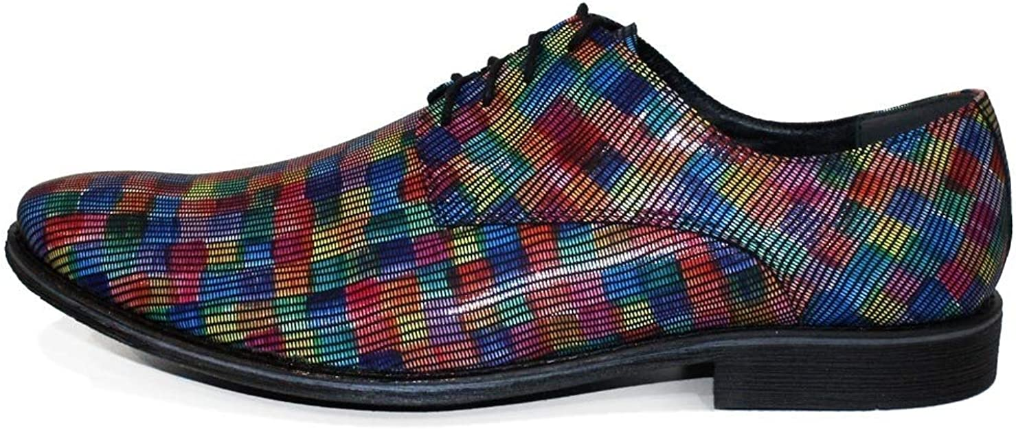 Modello Jenarro Lace-Up Handmade Italian Mens Color Colorful Oxfords Dress Shoes Cowhide Smooth Leather
