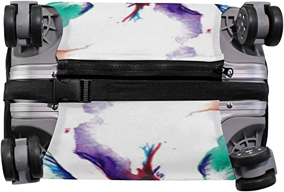 FANTAZIO Camouflage Bulldog Suitcase Protective Cover Luggage Cover