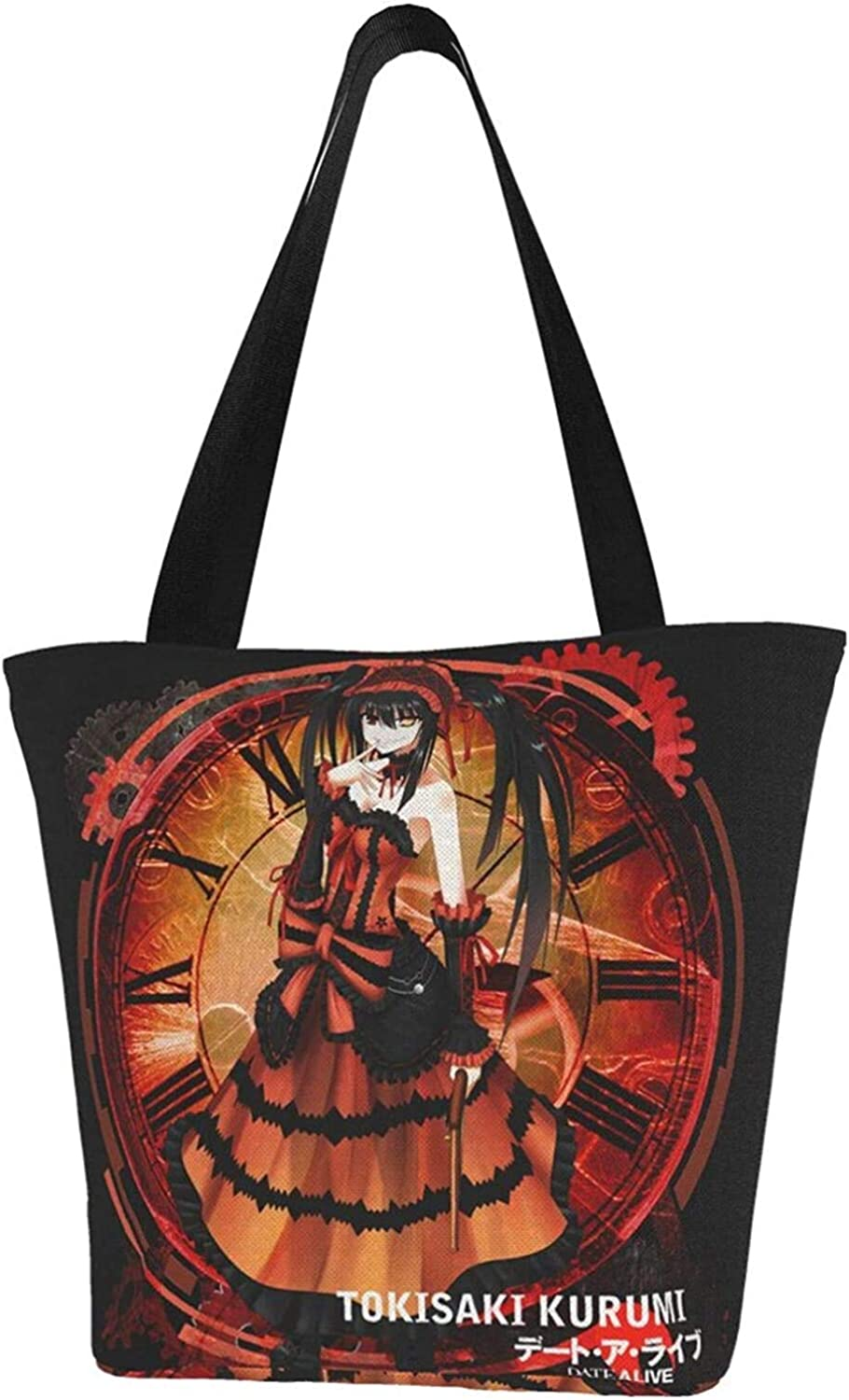 Nigel Tomm Haikyuu - Tobio Kageyama Canvas Tote Bag con cremallera Reutilizable Shopping Grocery Bags Bolsos para regalo Fun Art Cosplay Travel