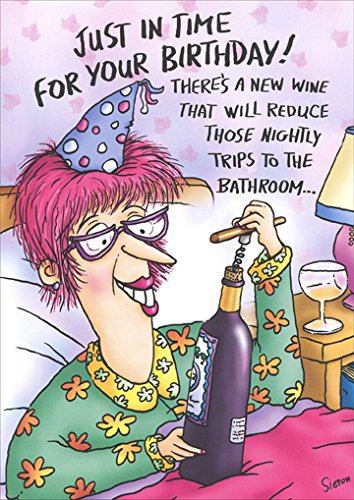 Amazon Wine In Bed Funny Birthday Card Kitchen Dining